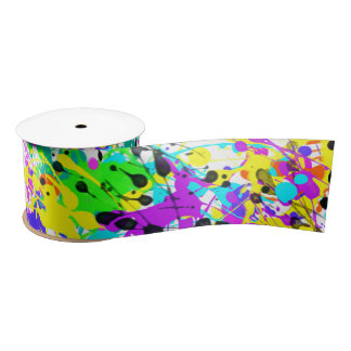 Splatter Paint Satin Ribbon