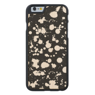 Splatter Paint Street Art in Black and White Carved® Maple iPhone 6 Slim Case