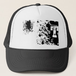 Splatter paint T Trucker Hat
