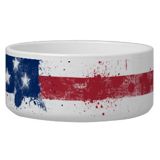 Splatter Painted American Flag