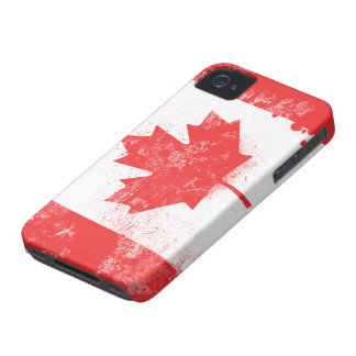 Splatter Painted Flag of Canada Case-Mate iPhone 4 Case