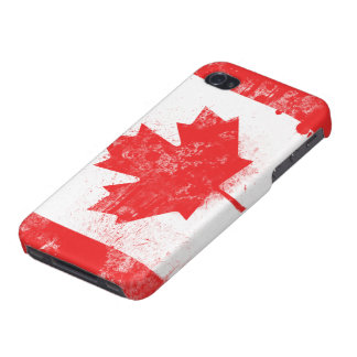 Splatter Painted Flag of Canada iPhone 4/4S Cover