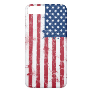 Splatter Painted USA Flag iPhone 7 Plus Case