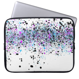 Splatter Pattern - Light with Blue and Pink Laptop Sleeve