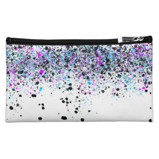 Splatter Pattern - Light with Blue and Pink Makeup Bag