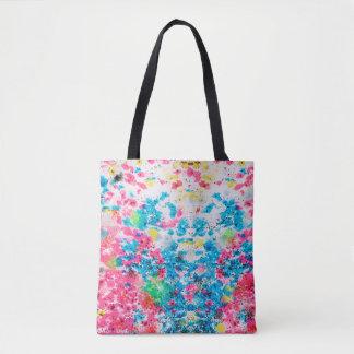 Splatter print tote bag