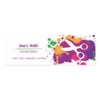 Splatter Scissors Business Card Templates