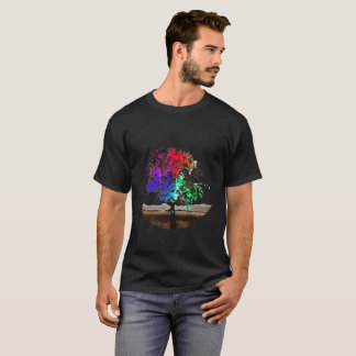Splatter tree - dark T-Shirt