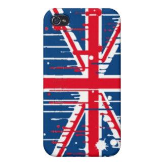 Splatter Union Jack Flag iPhone 4/4S Covers