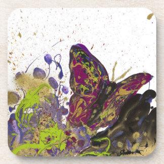 Splattered Butterfly Beverage Coasters