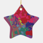 Splattered Ceramic Star Decoration