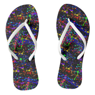Splattered Flip Flops