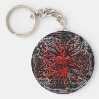 Splattered Ghoul Attacking Basic Round Button Key Ring