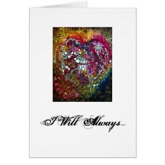 Splattered Heart Love card design!