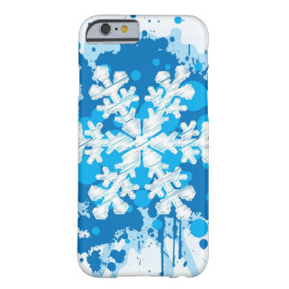 Splattered Paint Christmas Snowflake Design Barely There iPhone 6 Case