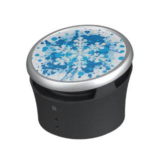 Splattered Paint Christmas Snowflake Design Speaker