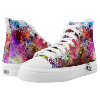 Splattered Paint Design High Top Shoes Printed Shoes