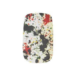 Splattered Paint Minx Nail Art