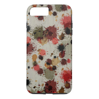 Splattered Painted Funky Masculine Red Brown iPhone 7 Plus Case