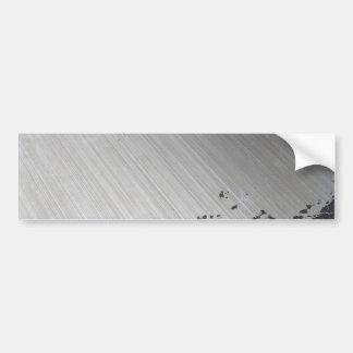 Splattered Urban Brushed Steel Bumper Sticker
