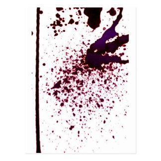 splattering / gravity postcard