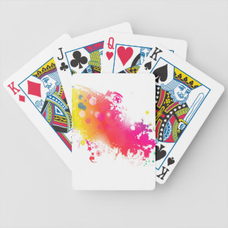 splatters bicycle playing cards
