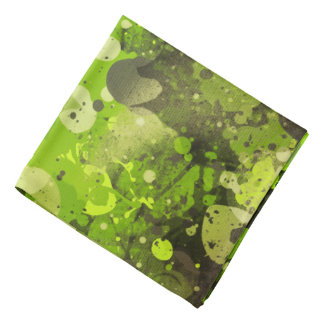 Splatters Camouflage GREEN Bandana