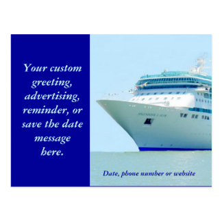 Splendid Cruise Ship 3 Custom Postcard