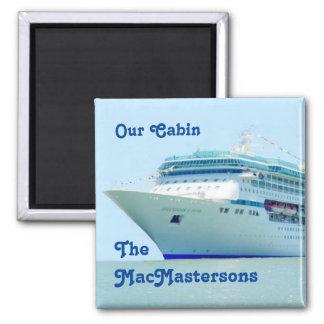 Splendid Cruise Ship Stateroom Door Marker Square Magnet