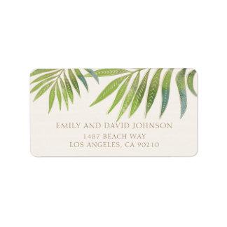Splendid Summer Wedding address label