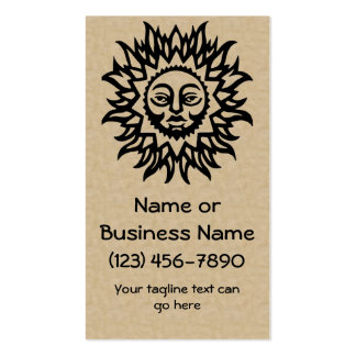 Splendid Sun on Parchment Style Background Business Card Template