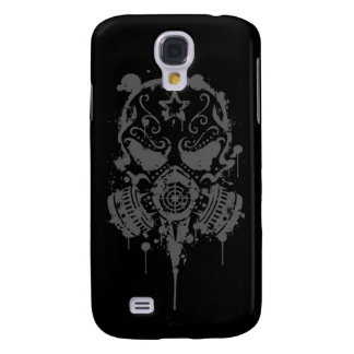 Spler Sugar Skull with Gas Mask (dark) Samsung Galaxy S4 Cases