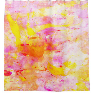 'Splish' Colorful Abstract Art Shower Curtain