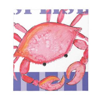 Splish crab notepad