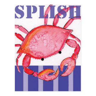 Splish crab postcard