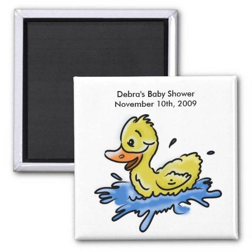 Splish Splash Duck baby shower favor magnet