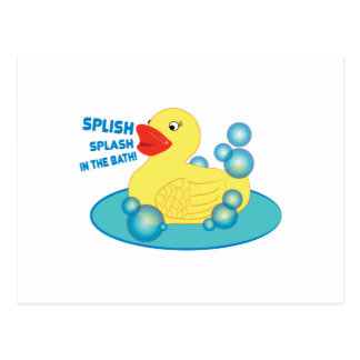 Splish Splash In The Bath! Postcard