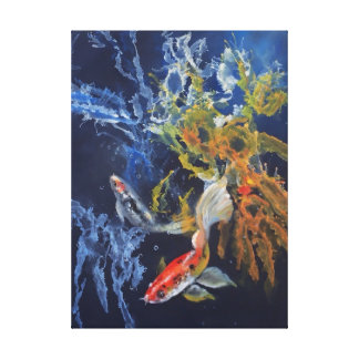 Splish Splash Koi Canvas Print