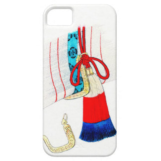 Split-Bamboo Screen Hook and Tassel 1878 iPhone 5 Cover