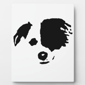 Split Face Border Collie Plaque