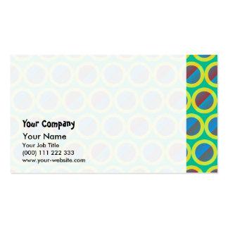 Split gradient circles pack of standard business cards
