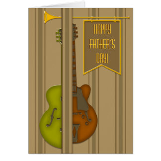 Split Guitar (Father's Day Card) Card