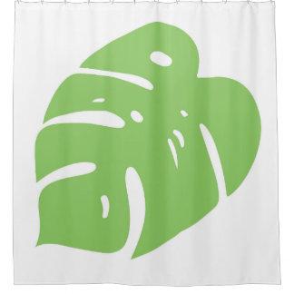 Split Leaf Tropical Decor Shower Curtain