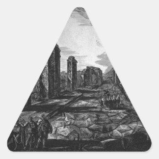 Split on the previous plan by Giovanni Battista Triangle Sticker