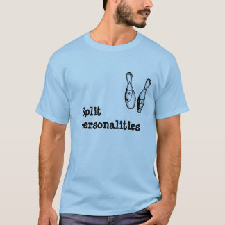 """Split Personalities"" Bowler T-Shirt"