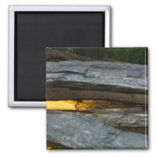 Split Rail Abstract Square Magnet