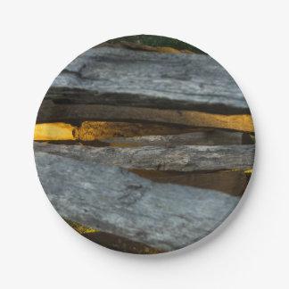 Split Rail Texture 7 Inch Paper Plate