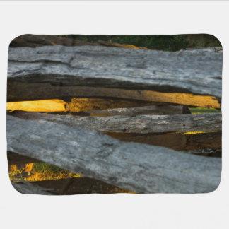 Split Rail Texture Baby Blanket