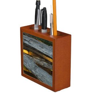 Split Rail Texture Desk Organiser
