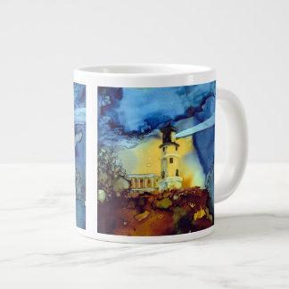 Split Rock Lighthouse At Night Jumbo Mugs